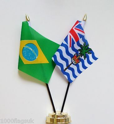 Brazil & British Indian Ocean Territory Double Friendship Table Flag Set