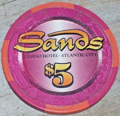$5 Closing Gaming Chip From The Sands Casino Atlantic City