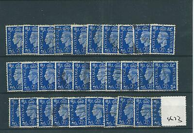 GB  - GEORGE V1 -G673- 1937- DEFINITIVES - 2.5d. x 30 - COMMERCIALLY USED