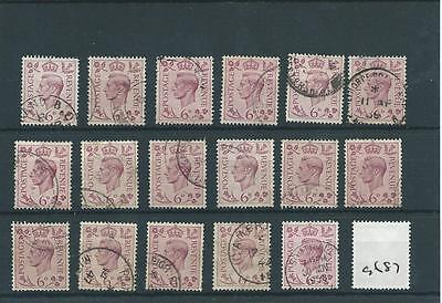 GEORGE V1 -G687- 1937- DEFINITIVES - 6d. x 17 copies  - FINE USED