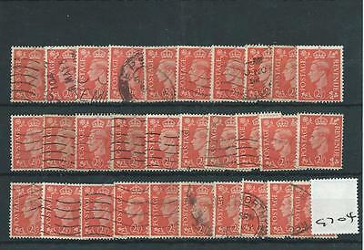GEORGE V1 -G704- 1950/51- DEFINITIVES colour change- 2.5d. x 30 copies  -  USED