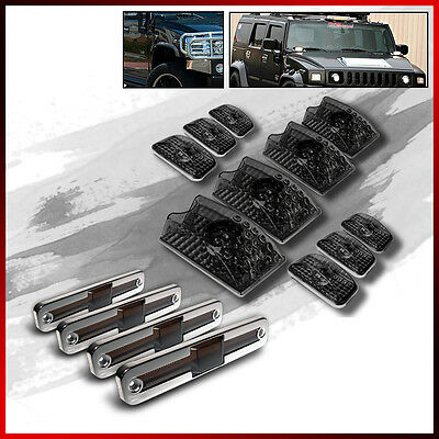 Fits Smoke 03-09 Hummer H2 10 Pieces Roof Head Lights+Side Marker Lamp Covers