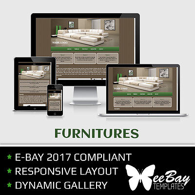 Professional eBay 2017 Auction Listing Template 7 FURNITURES Responsive Design