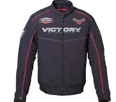 New Victory Motorcycles Bomber Jacket Street Black Mens All Sizes Liner