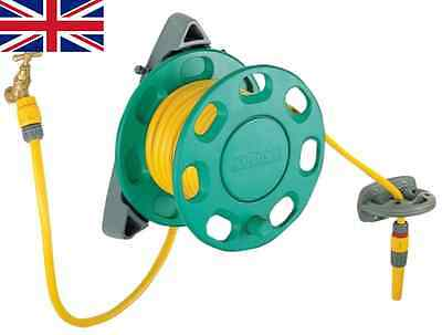 Hozelock Wall Mounted Compact Reel Hose Pipe & Fittings With 15m Hose Watering