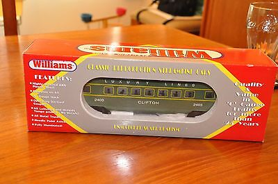 WILLIAMS O Scale Gauge Luxury Lines 0-27 2403 CLIFTON STREAMLINER Passenger Car