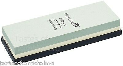 Masterclass Dual Whetstone Double Sided Knife Sharpener Sharpening Wet Stone