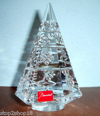 Baccarat Courchevel Fir Xmas Tree Clear Crystal Snowflake Star Hearts 2804653