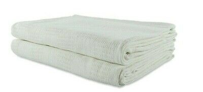 White Thermal Hospital Blanket Twin Size 66X90 Snagfee 100% Cotton Brand New