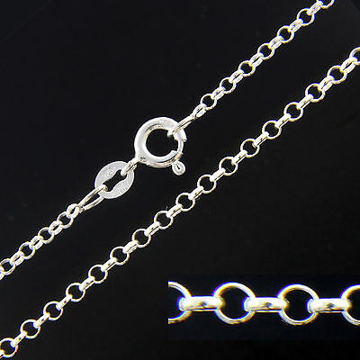 925 Sterling Silver BELCHER ROLO Chain Necklace 16 18 20 22 24 26 28 30 Inch 2mm