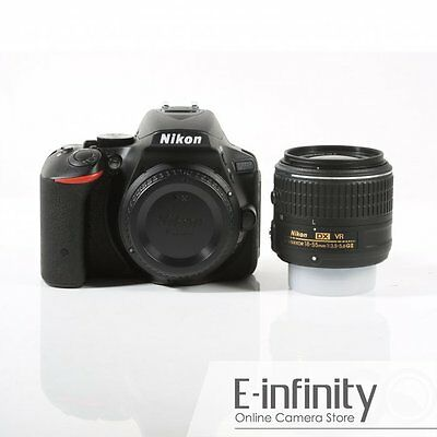 Nikon D5500 Black Digital SLR Camera + AF-S 18-55mm f/3.5-5.6G VR II Lens
