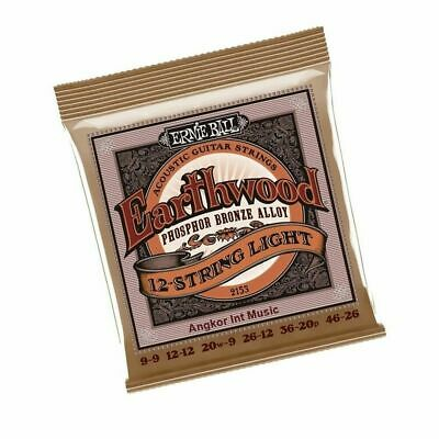 Ernie Ball 2153 Phosphor Bronze 12 String Acoustic Guitar Strings 9 - 46 EB2153