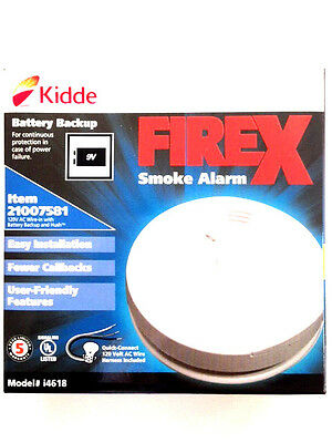 KIDDE FIREX i4618 AC/DC IONIZATION SMOKE DETECTOR W/ BATTERY BACK-UP