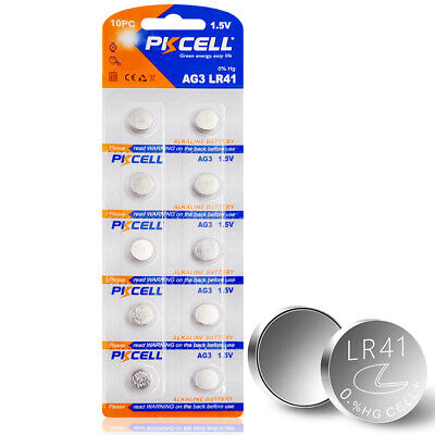 10PC AG3 LR41 V3GA SR41 192 392 Watch Button Coins Cell Battery PKCELL New