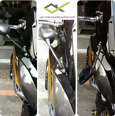 KYMCO DOWNTOWN 300 (YZF-R15 style) FRONT MOUNTED SQUARE MIRRORS
