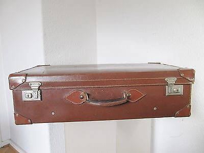 großer alter LEDERKOFFER CHENEY ENGLAND  leather suitcase