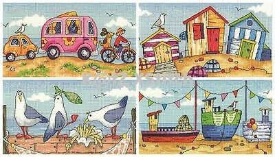 HERITAGE CRAFTS - BY THE SEA CROSS STITCH KIT Choose From Four