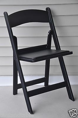 12 Chairs Folding Black Resin Wedding Reception Party Dining Chair Free Shipping