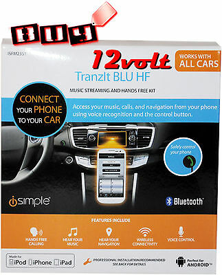 iSimple ISFM2351 TranIt BLU HF Smartphone Handsfree Integration  for any Vehicle
