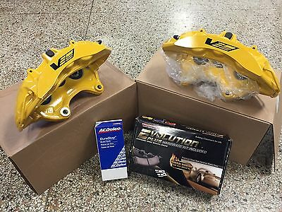 2009-12 Cadillac CTS-V Brembo Yellow 6 Piston Front Calipers w/pads + pins ZL1
