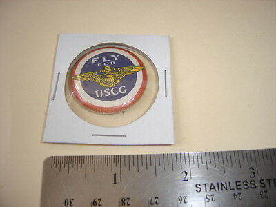 Original Wwii Homefront Fly For Uscg Coast Guard   Button