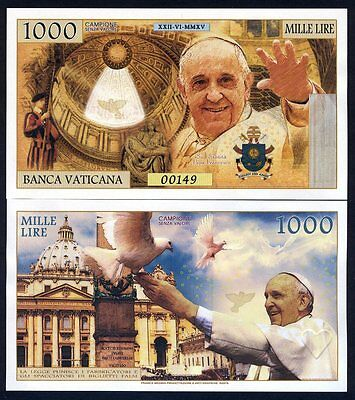 Vatican, 1000 Lire, 2018 Private Issue Kamberra, UNC > Pope Francis