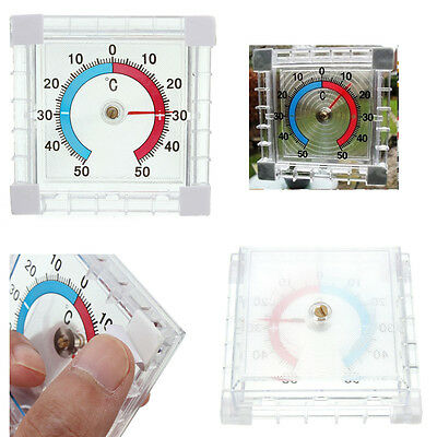 Window Wall Greenhouse Garden Home Office Temperature Thermometer Gauge