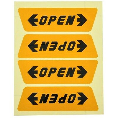 4PCS Removable Reflective Door Open Nighttime Warning Sign Car Sticker Decal New