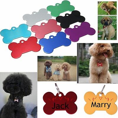 Personalized Pet ID Tags Médaille Os PR Chien Chat Animaux Alliage D'aluminium
