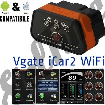 OBD2 OBDII Vgate iCar2 ELM WIFI SCANNER ANDROID IOS 11 TORQUE IPAD IPHONE 7 8 X