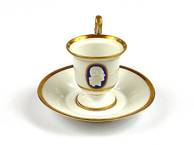 seltene Portrait-Tasse + UT - Meissen - George Washington - Biedermeier