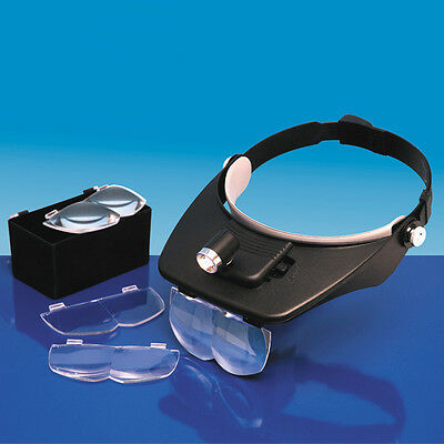 Model Craft - Headband Magnifier with 4 Lenses - LC1764