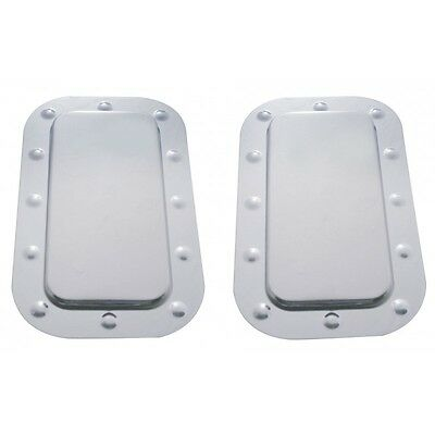 Kenworth Stainless Steel Vent Door Cover and Dimpled Trim Set