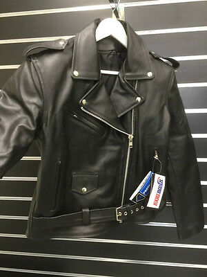 Ladies Brando Leather Jacket Motorcycle Jacket Women Removable 5 pc CE ARMOUR
