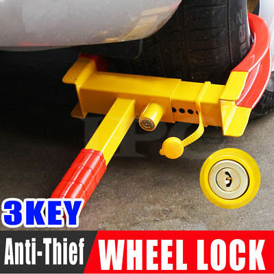 2018 - Wheel Lock Clamp Heavy Duty Anti-theft For Vehicle Car Trailer with 3Keys