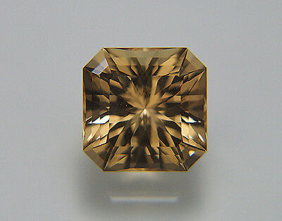 Citrine From Bolivia. Custom Cut. Very Brilliant 10.5mm Square.4.75cts