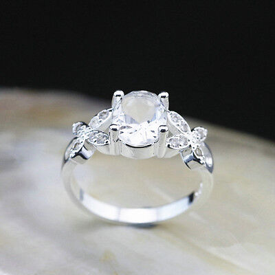 925 Solid Sterling Silver Plated Women/Men NEW Fashion Ring Gift SIZE OPEN HR451