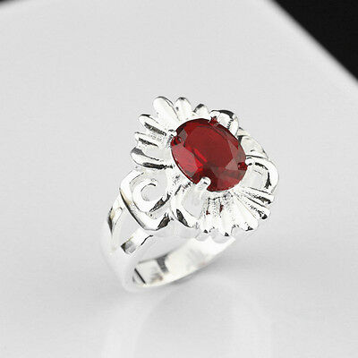 925 Solid Sterling Silver Plated Women/Men NEW Fashion Ring Gift SIZE 8 HR456