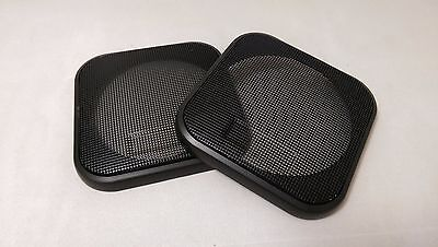 110mm square speaker grille / cover in Black (pair)