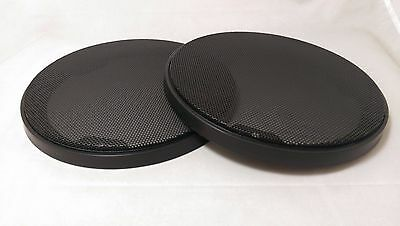185mm round speaker grille / cover in Black (pair)