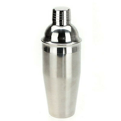 Stainless Steel Cocktail Shaker Drink Mixer Bar Set Kit - 250ml ED