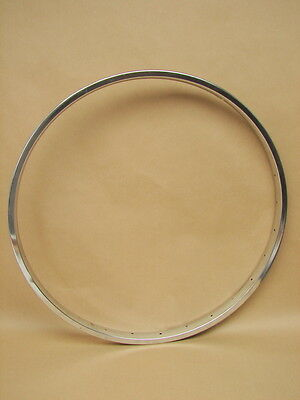 "Vintage New NOS 24"" x 1/75 28 Hole Bike Bicycle Chrome Steel Rim"