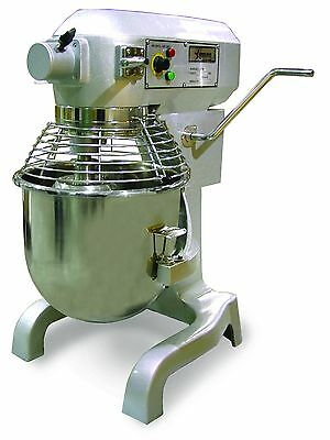 Omcan 20 Qt Planetary Mixer With Timer and Guard plus 3 Attachments SP200AT