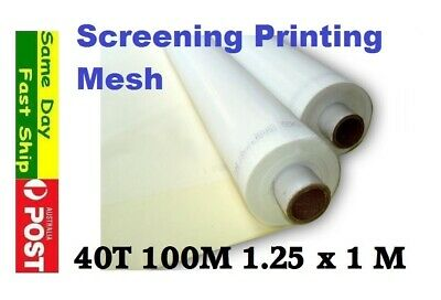 40t 100M Mesh for Silk Screen Printing Size: 127 x 100 cm AU local fast ship