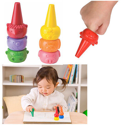 Crayon for Baby Toddler 6 Color Basic Assort Safety Tough Washable Baby Supplies