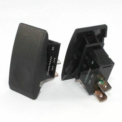 Arcolectric C1424EAAAA Momentary On Rocker Switch Black Actuator 16 A 24 V Volt