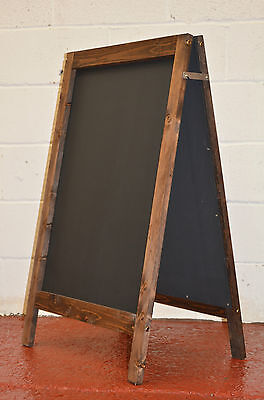 Large Wooden Pavement Sign A-Board Chalkboard / Cafe / Shop/ Pub / Liquid Chalk