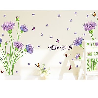 Flowers Removable Room Vinyl Decal Art Wall Home Decor Kids DIY Stickers Mural