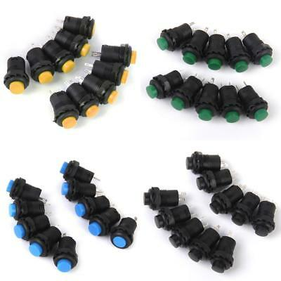 Lots 40pcs 12V On/Off Latching Push Button Switch Locking for Car Dashboard Boat