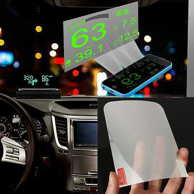 1PCS HUD Projector Head Up Display System OBD II Reflective Film Screen Sticker
